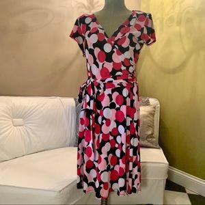 •AB Studio• Faux Wrap Dress